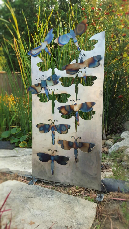 Metal Outdoor Dragonfly Home Garden Yard Decor Art