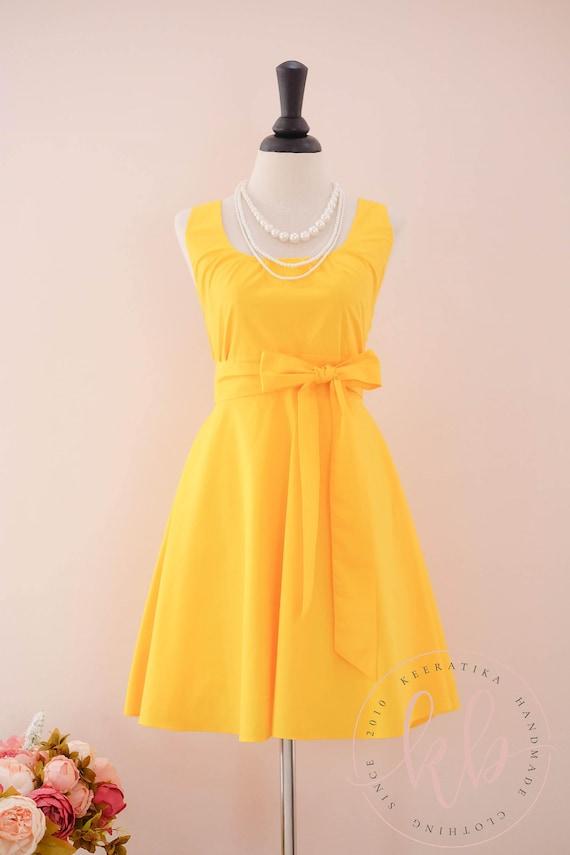 Gelbe Brautjungfernkleid gelb Prom Kleid Vintage gelb Kleid