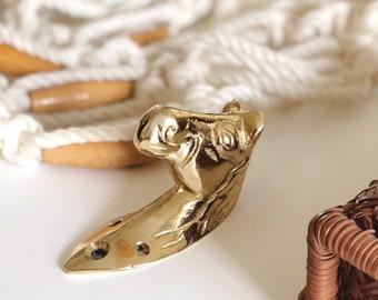 Brass horse wall hook / horse wall mount