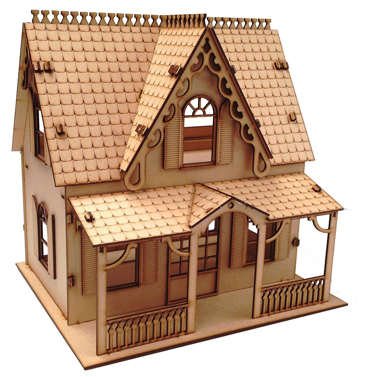 Wooden Plain Mdf Childrens Dolls House 5 Craft Diy Paint
