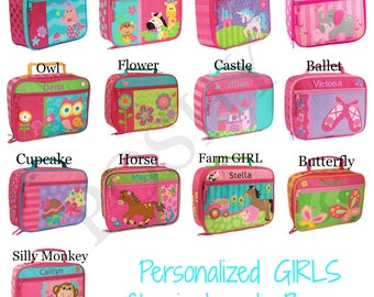 Personalized kids lunch box / monogrammed kids lunch box / Lunch bag / boys lunch box / Girls lunch Box / 20+ designs