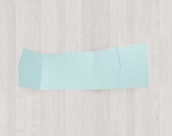 10 Panorama Pocket Enclosures - Light Blue - DIY Invitations - Invitation Enclosures for Weddings and Other Events
