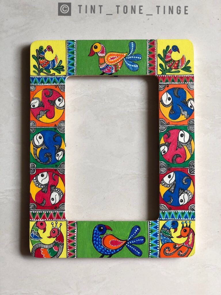 Painted frames, madhubani, acrylic painting, wooden frames from ...