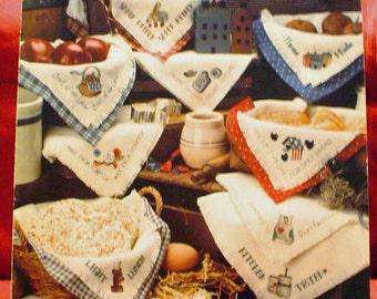 """SALE 2.00 DESTASH - Kathie""""s Bread Cloths - Cross Stitch Patterns"""