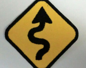 Iron-On Patch - ROAD CURVES