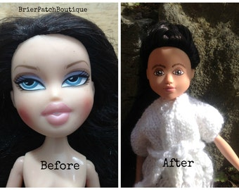 Michelle-(upcycled doll, reborn and repainted bratz doll, OOAK doll)