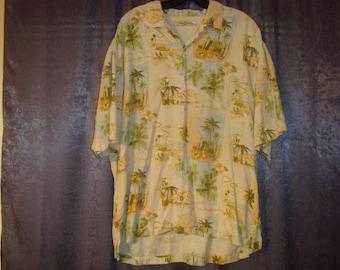 Palm Springs Tommy Bahama Silk Hawaiian Shirt L