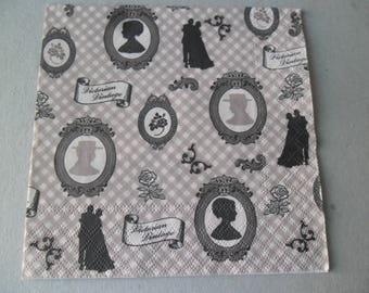 x 1 napkin style retro vintage 33 x 33 cm