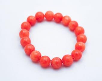 Peach Quartz Bracelet