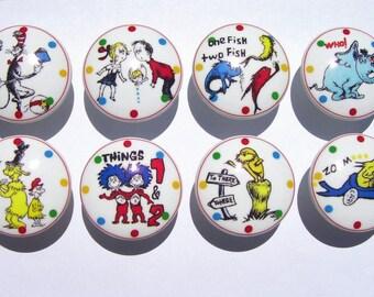 8 Dr Seuss and friends kids boy girl Dresser Drawer Knob