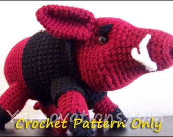 Arkansas Razorbacks Wild Boar Crochet Pattern
