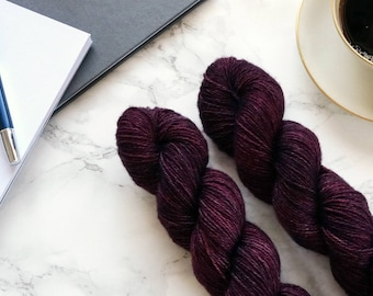 Hand dyed yarn, cashmere sweater knitting wool, best selling items, knit gift for mom, mom gift, merino wool yarn, PREORDER- Red Amethyst