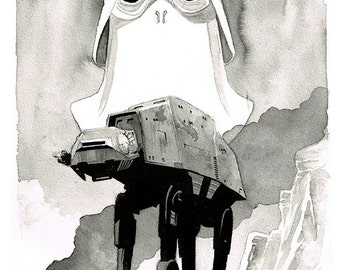 Star Wars - The Empire Strikes Back - Battle of Hoth art print