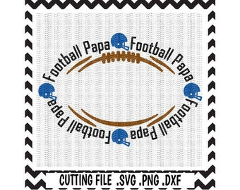 Football Papa Cutting Files, Football Monogram, Football Helmet, Svg-Dxf-Png-Pdf, Cut Files For Silhouette Cameo & Cricut, Svg Download.