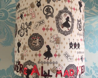 Alice in Wonderland lamp, Alice and Wonderland home decor, Alice in Wonderland quote gift, Through the looking glass home office decor
