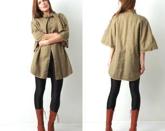 Vintage Cape / Vintage Poncho / Woman Poncho / Wool Cape / Autumn Cape / Fall Cape / Wool Poncho / Woman Poncho / 70s Cape / 70s Poncho