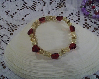 Red Heart Bracelet - Free Shipping