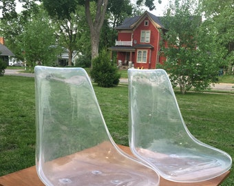 Pair of Awesome Lucite Mid Century Modern Seats