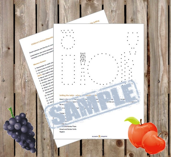 Childrens Dining Etiquette Manners Review And Dot To Practice Table Setting