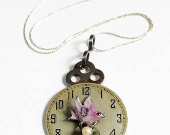 Skeleton Necklace Steampunk Watch Steampunk Key - Free Domestic Shipping