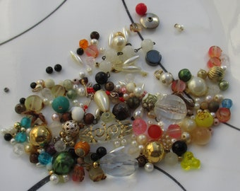 Lot Of Assorted Salvaged Beads