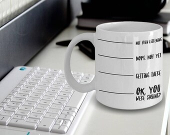Nevermind I Have to Go Poop Now © Funny Coffee Tea Mug