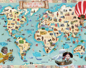 Customized Map of the World for Children