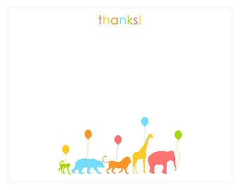 PRINTABLE Animal Parade Thank Yous - #DIY #Printable #Digital #File (instant download)