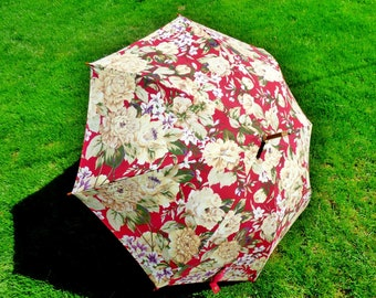 RALPH LAUREN  Floral Umbrella Very Good Condition