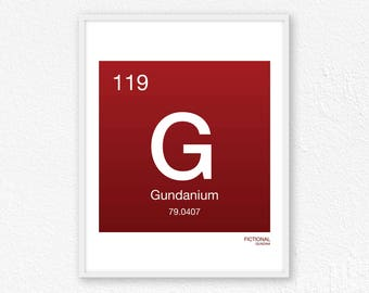119 Gundanium, Periodic Table Element | Periodic Table of Elements, Science Wall Art, Science Poster, Science Print, Science Gift