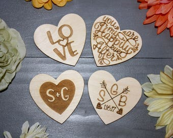 Valentines Day Personalized Laser Etched Magnets // Set of 4 Personalized Magnets // Valentines day Gift