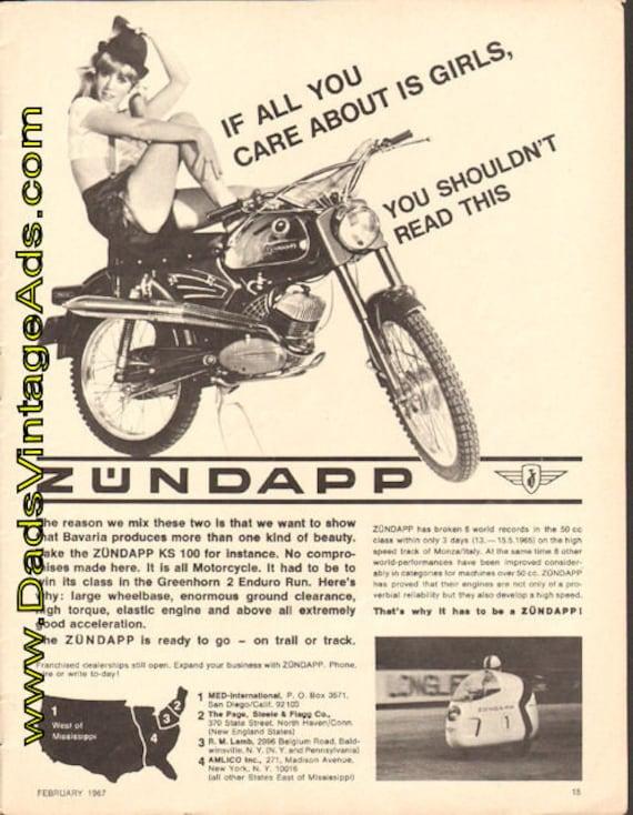 1967 Zundapp KS-100 Enduro Motorcycle Ad #e67ba07