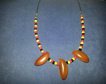 Aboriginal indigenous   beaded seed  Necklace