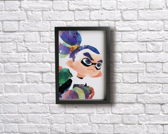 INKLING BOY poster - Inslpired by Splatoon!