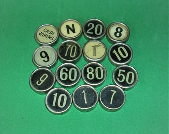 2 Vintage Typewriter Keys Cash Register Keys Vintage Letters Numbers DIY Jewelry Keys