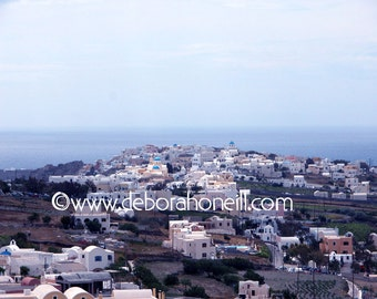 "Greece Photography ""City at Sea, Santorini, Greece"""