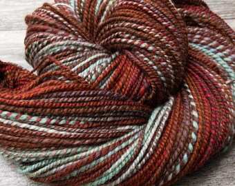 Worsted Weight, Handspun Yarn in Organic Polwarth Wool: Robin's Nest - size 3–4 (light worsted–worsted)