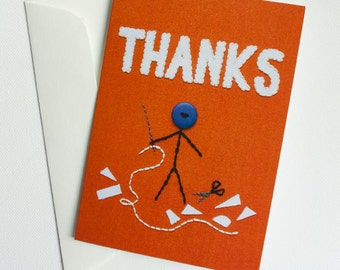New Thank You Card with Mr. Buttonman