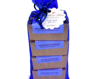 Soap Gift Set - Christmas Gift - Soap Christmas Gift - Soap Gift Bag - Holiday Gift Set - Vegan Gift - 5 different scent combination choices