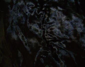 No. 213 fabric velvet black thick fur effect