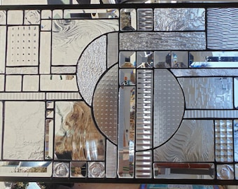 Stained Glass Window Hanging 23 3/4 X 16