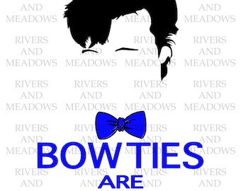 Doctor Who, Bow ties are cool, Matt Smith, the Doctor, Tardis, Digital download, SVG, cut file, HTV, Silhouette, Cricut