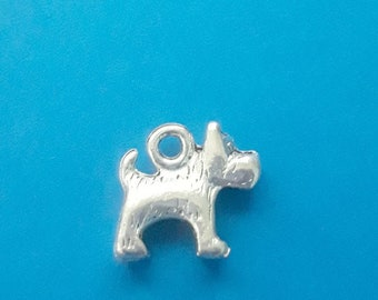 13 pcs Terrier Dog Charm, Scotty Dog Charm, Dog Pendant, Toto, Wizard of Oz Charms, Antique Silver, 14mm x 13mm, US Seller