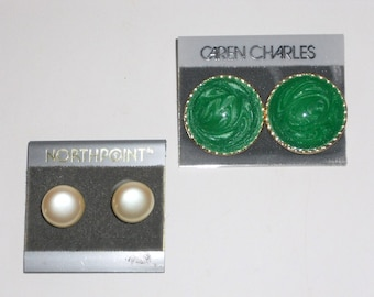 Earrings Pierced Vintage Jewelry Caren Charles Northpoint Women's Accessories