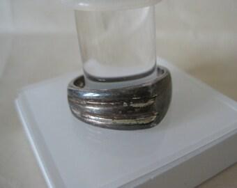 Modern Sterling Ring Vintage Silver 925 9 1/4