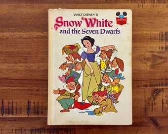1973 Snow White and the Seven Dwarfs Hardback Book / Walt Disney / Wonderful World Of Reading