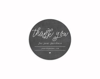 Thank You Stickers, Handmade with Love Stickers, Favor Thank You Sticker, Envelope Seals, Thank you label, Business Sticker