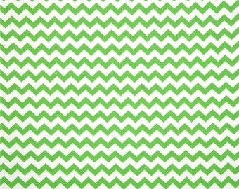 HALF YARD - Chevron, Zig Zag, Green and White,  100% Cotton by the yard  SALE