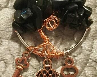 Tree of life dream catcher pendant