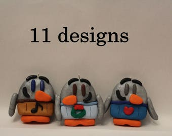 Ornament= Sweater Penguins -Polymer Clay-